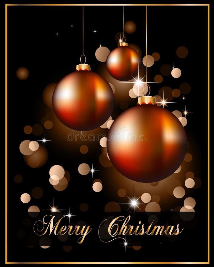 Milieux de Noël avec les babioles renversantes illustration de vecteur