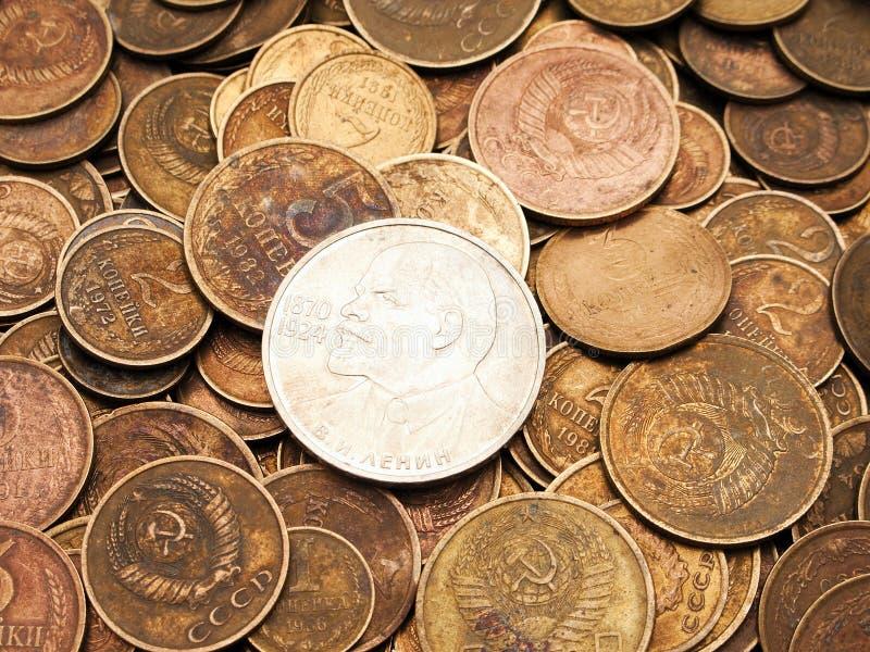 Milieux de pièce de monnaie photographie stock libre de droits
