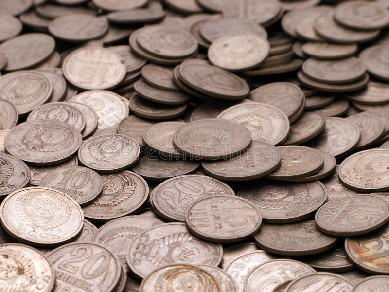 Milieux de pièce de monnaie image stock
