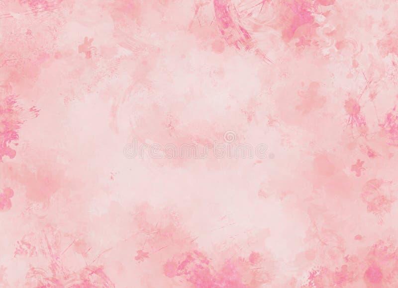 Milieux de rose en pastel illustration libre de droits