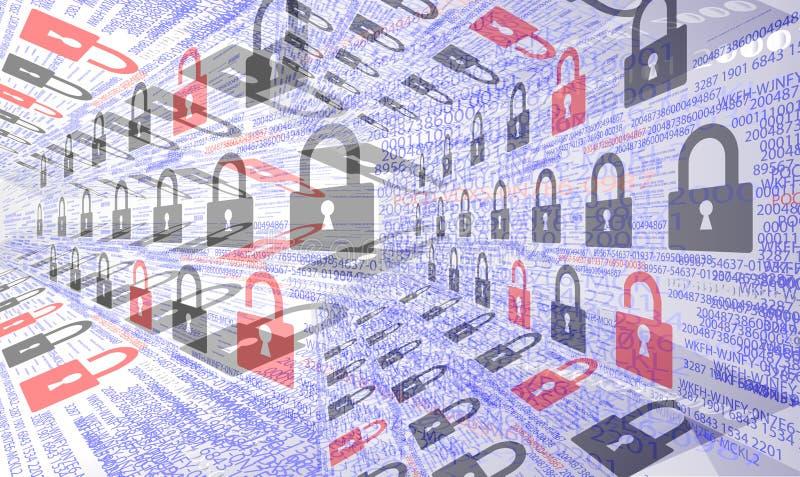 Milieux de sécurité d'Internet images libres de droits