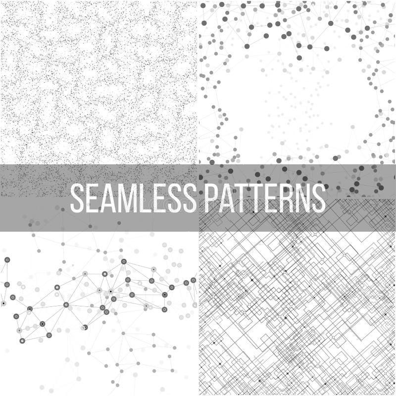 Milieux de structure moléculaire, modèles sans couture illustration de vecteur