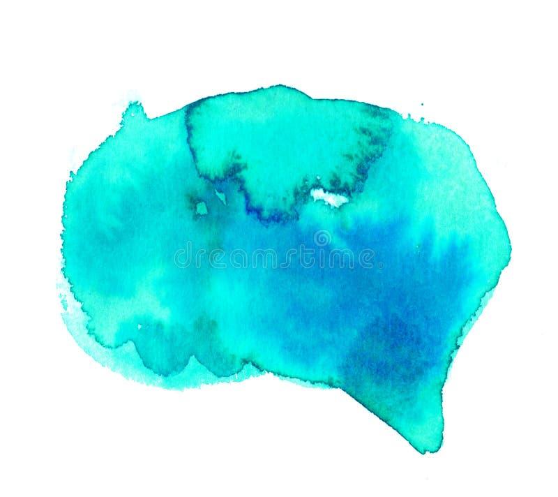 Milieux de taches de peinture d'aquarelle de couleurs d'arc-en-ciel réglés illustration libre de droits