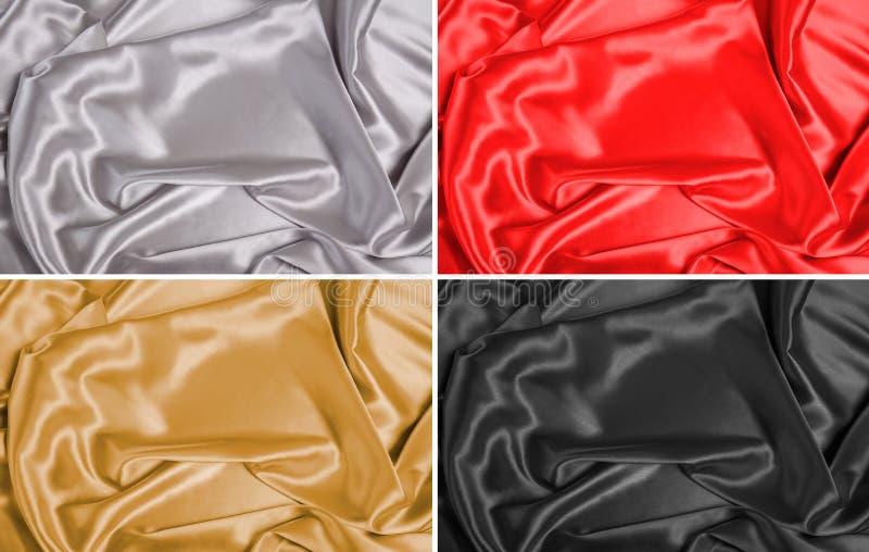 Milieux de tissu en soie photographie stock
