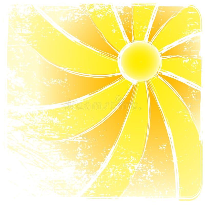 Milieux de vecteur et d'abrégé sur de rayon de soleil. illustration libre de droits