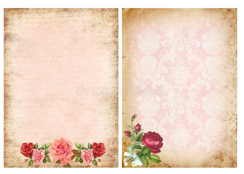 Milieux de vintage avec des roses photographie stock