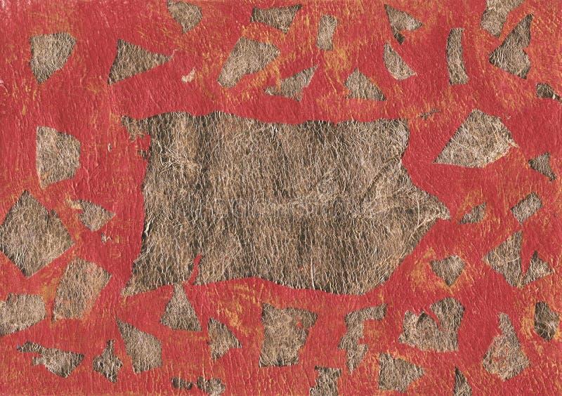 Milieux en bronze de texture de feuille d'or photographie stock