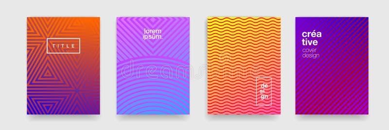 Milieux et modèles, ligne géométrique abstraite de texture et forme de vague Graphique de fond de modèle de gradient de couleur d illustration stock