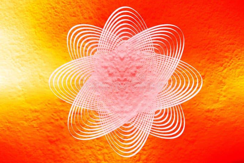 Milieux fleuris de cercle illustration libre de droits