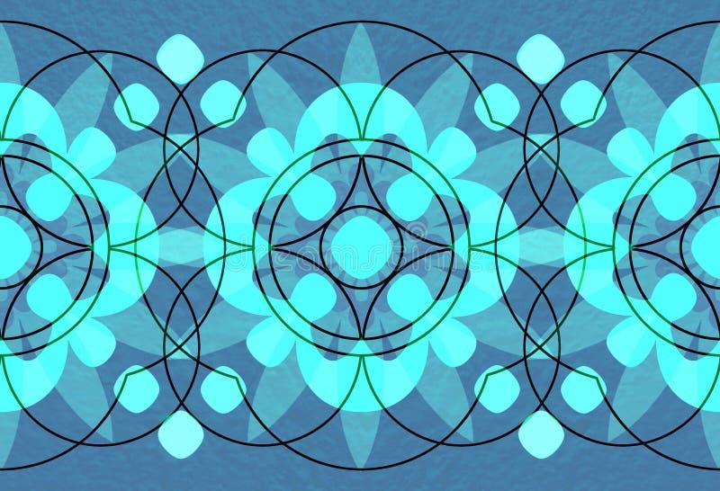 Milieux fleuris de cercle illustration de vecteur