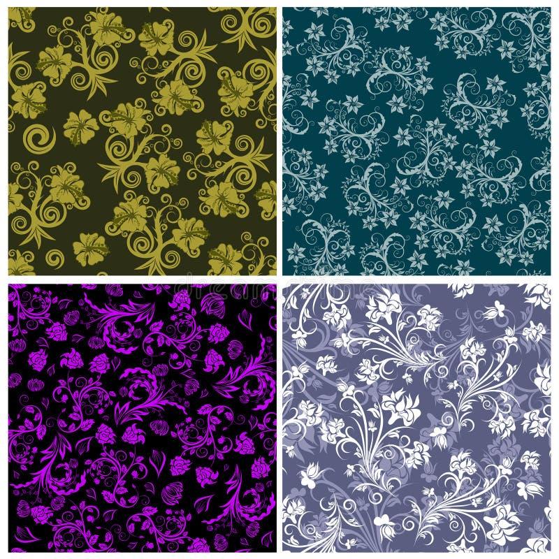 Milieux floraux sans joint réglés illustration libre de droits
