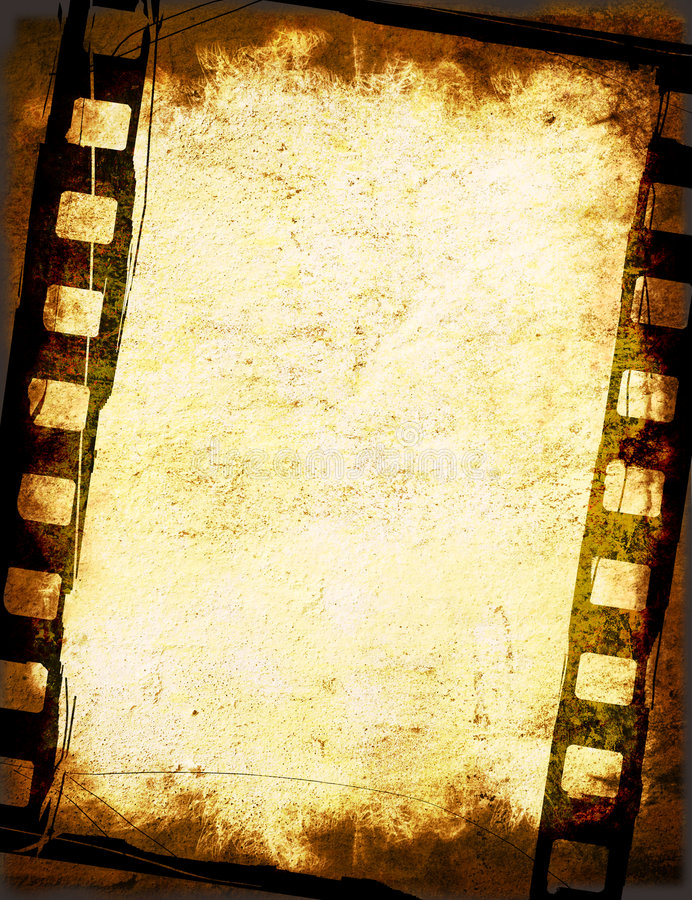 Milieux grunges de bande de film illustration stock