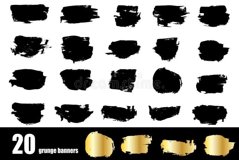 Milieux grunges de calibre de bannières pour la promotion illustration de vecteur