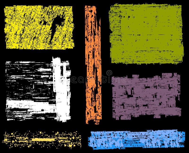 Milieux grunges et drapeaux illustration stock