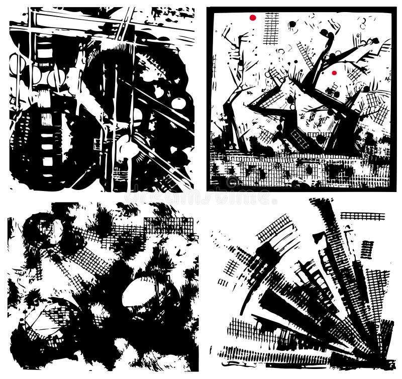 Milieux grunges réglés illustration stock