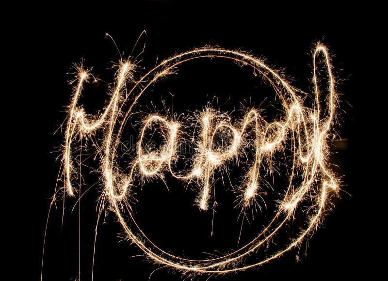 Milieux heureux de Sparklers photos stock