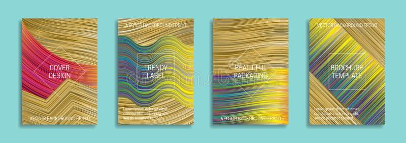 Milieux olographes pour la conception de couverture Labels à la mode pour le bel emballage Calibres intensifs lumineux de brochur illustration de vecteur