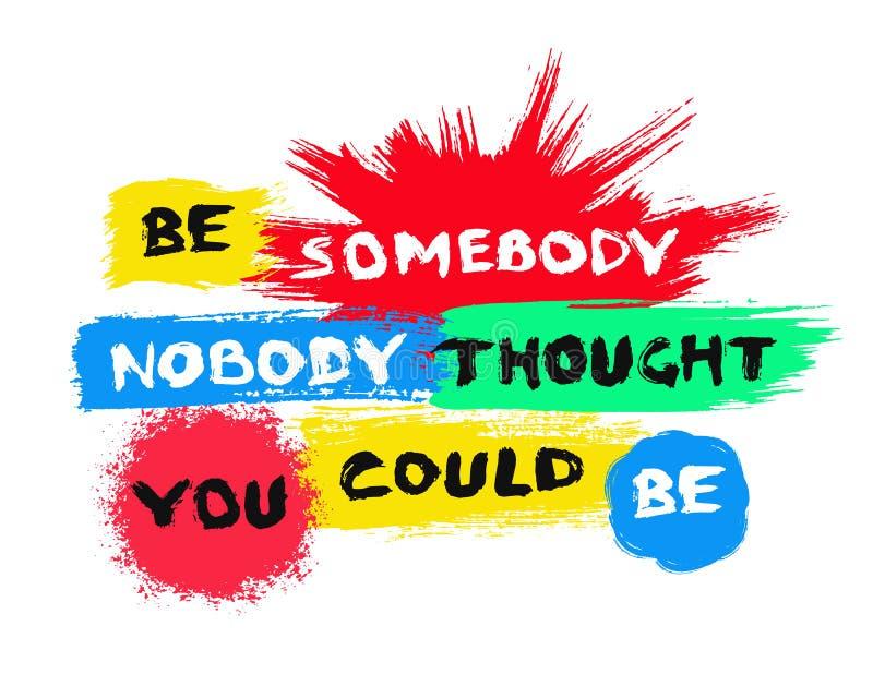 Milieux peints colorés d'affiche de motivation illustration libre de droits