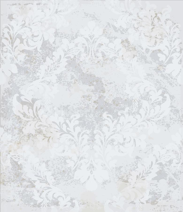 Milieux réglés de vecteur d'ornement de damassé Décor royal élégant textures à la mode de couleur de pastelate illustration libre de droits