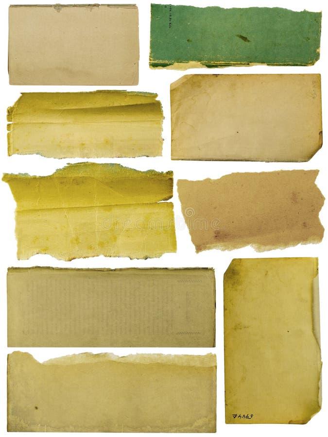 Milieux texturisés de papier de bannière de collection image libre de droits