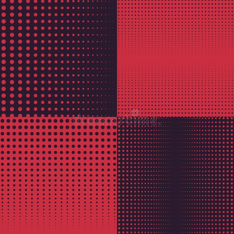 Milieux tramés de vecteur en foncé et rouge illustration stock