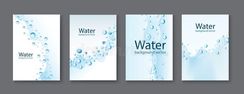 Milieux transparents de baisses de l'eau abstraite Vecteur illustration libre de droits