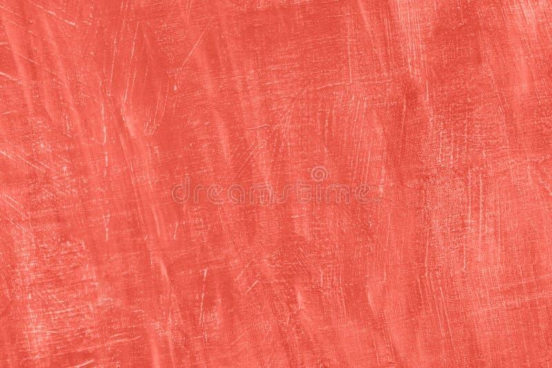Milieux vivants de corail de mur de couleur de résumé, bannière grunge de textures de stuc de ciment image libre de droits