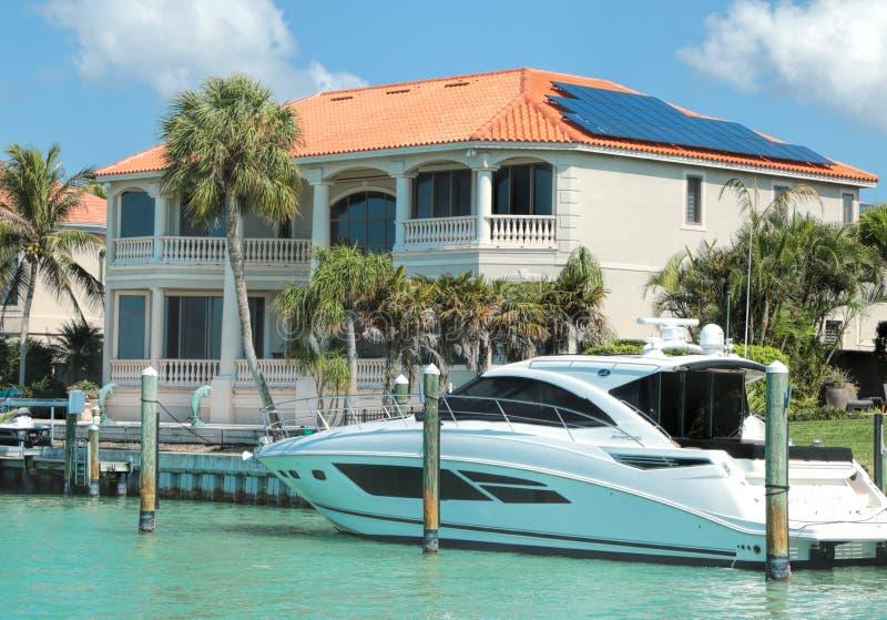 Milionerów domy, ptaka klucz, Sarasota Floryda obrazy royalty free