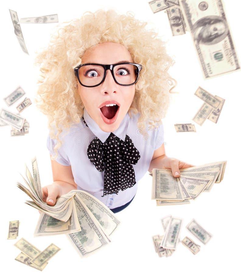 Milioner, loteryjnego zwycięzcy pojęcie fotografia royalty free