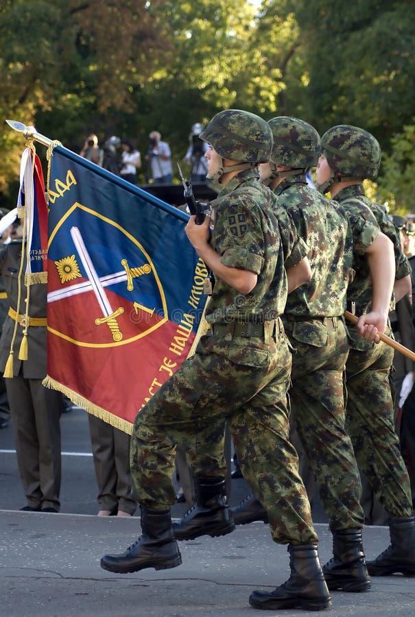 Militär cadetbrigadflagga fotografering för bildbyråer