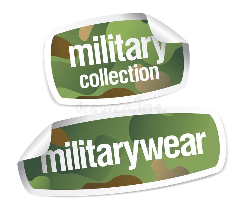 militär etikettswear för samling vektor illustrationer