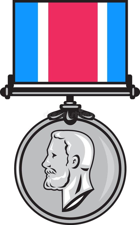 Download Militär För Korsgeorge Medalj Stock Illustrationer - Illustration av konung, isolerat: 19791704