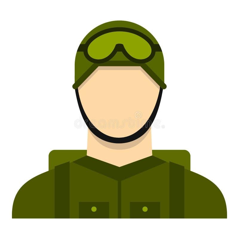 Militär fallskärmsjägaresymbol, lägenhetstil royaltyfri illustrationer