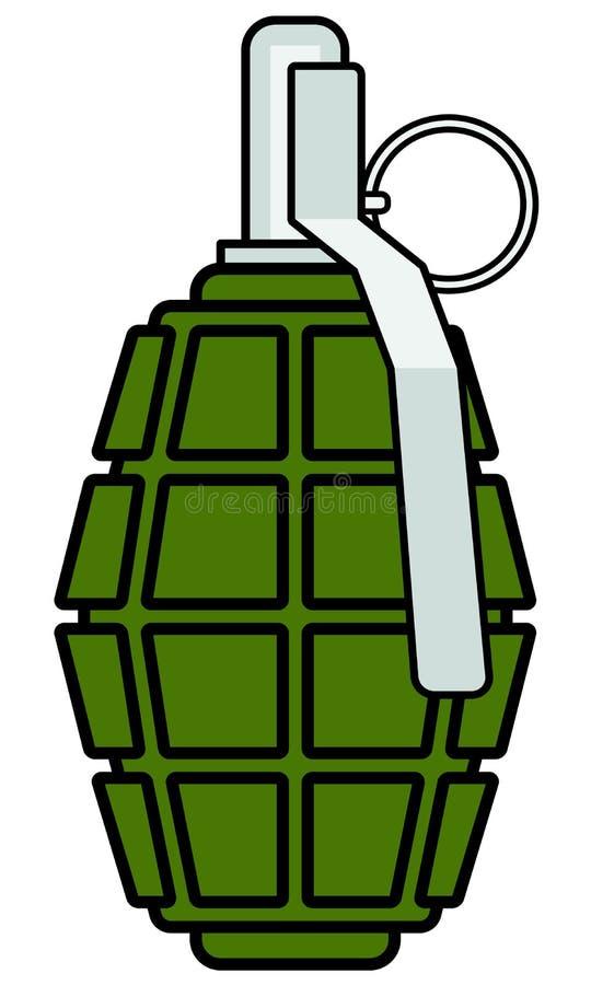 Militär granatsymbol stock illustrationer