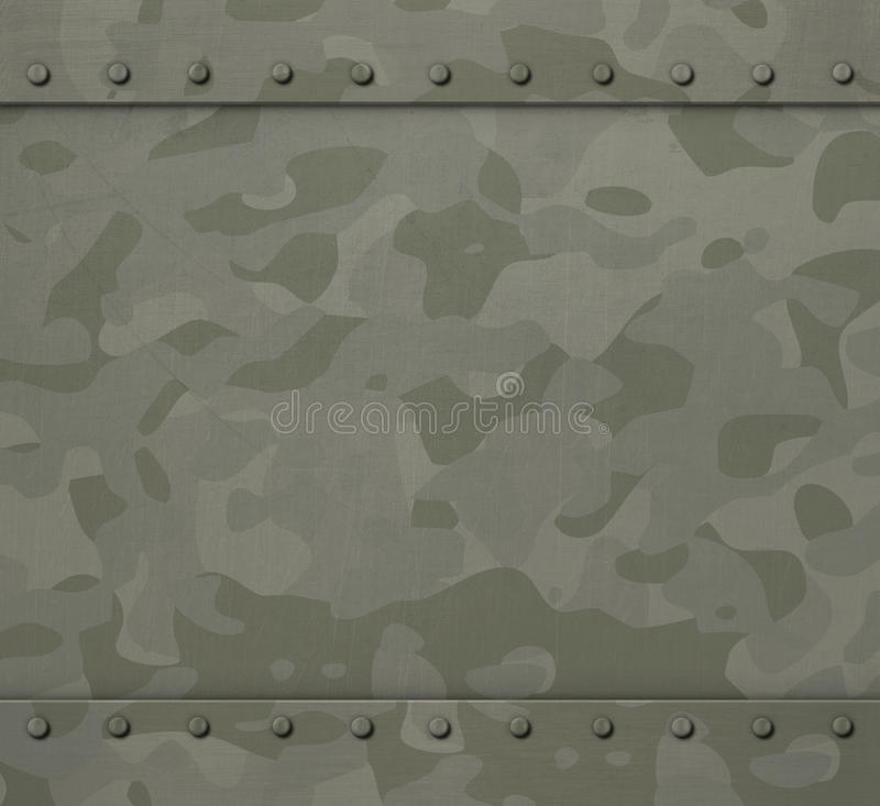 Militär harnesk med illustrationbakgrund för kamouflage 3d stock illustrationer