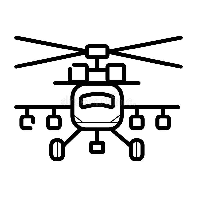 Militär helikoptersymbol för krig royaltyfri illustrationer