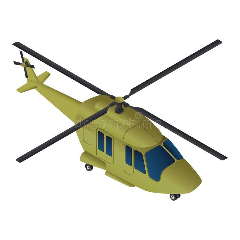 Militär helikoptersymbol, isometrisk stil vektor illustrationer