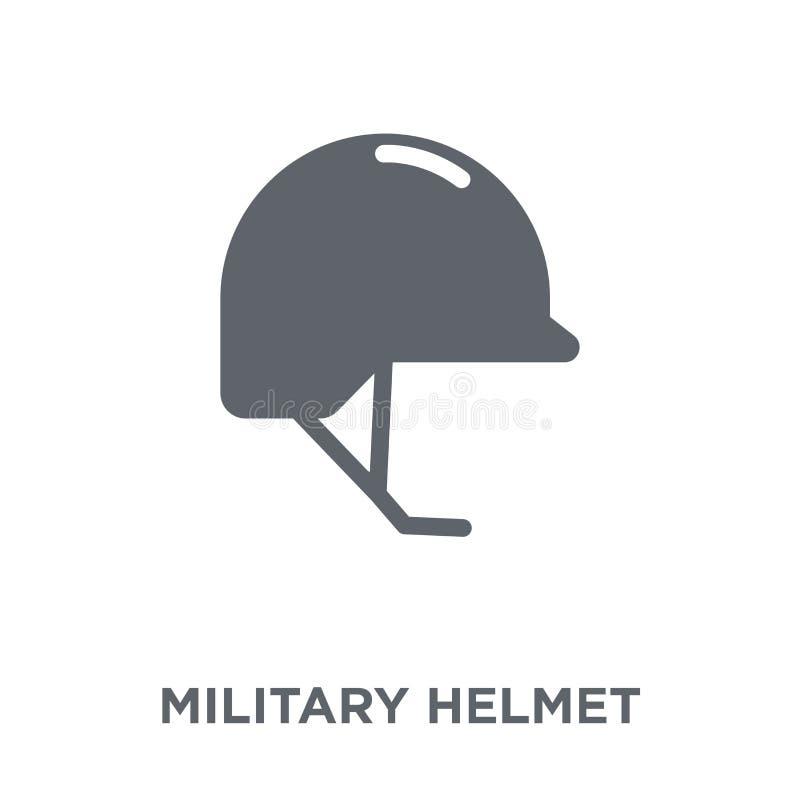 Militär hjälmsymbol från armésamling royaltyfri illustrationer