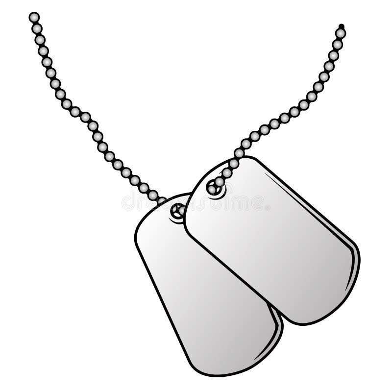 Militär illustration för vektor för hundetiketter stock illustrationer