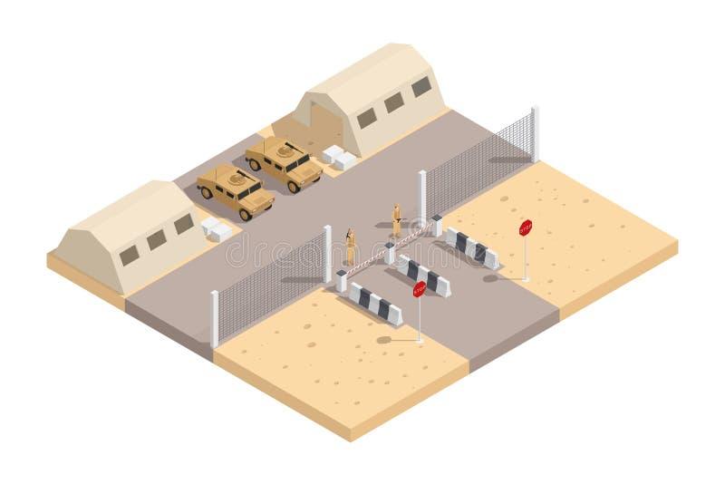 Militär isometrisk sammansättning royaltyfri illustrationer