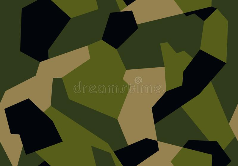 Militär kamouflage för modern geometrisk stiltextur för torkduk, bil eller vapen stock illustrationer
