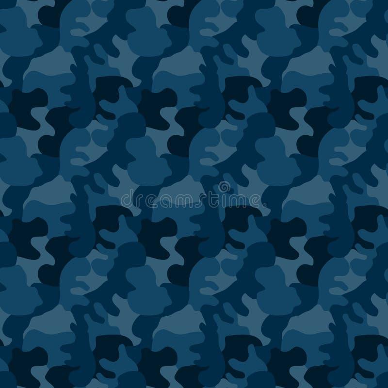 Militär kamouflage för sömlös marin stock illustrationer