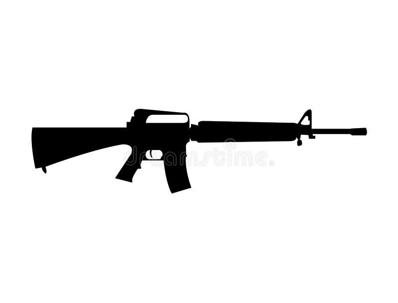 Militär kontur för vapen M16 arkivbild