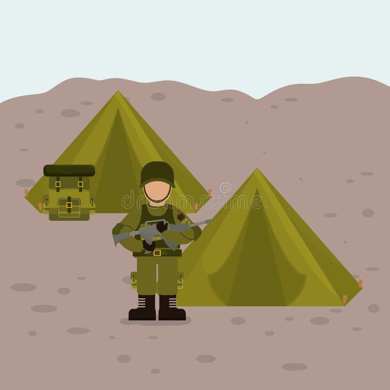 Militär krigsmaktdesign vektor illustrationer
