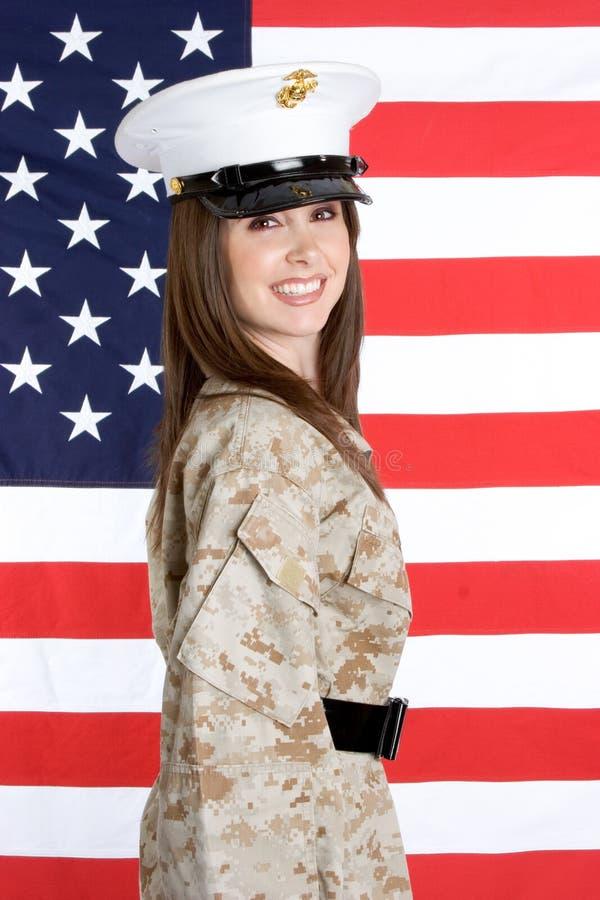 militär kvinna royaltyfria foton