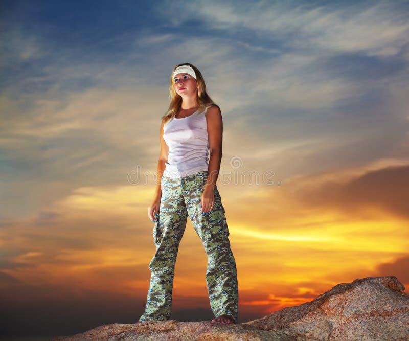 militär kvinna royaltyfria bilder