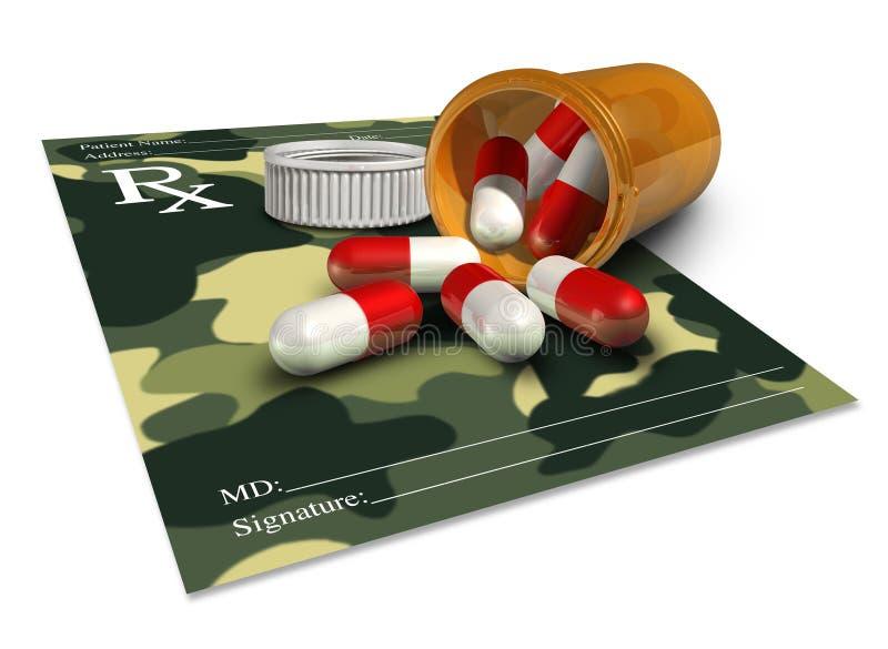 Militär medicin royaltyfri illustrationer