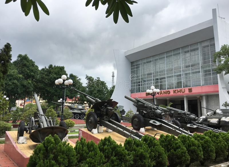 Militär-Museum der Zonen-5 im Da Nang, Vietnam stockfotos