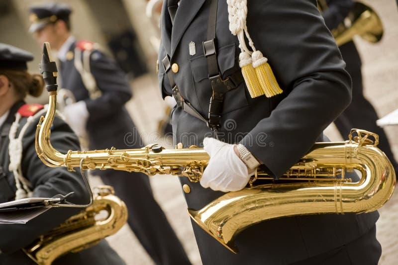 Militär musiker royaltyfri foto