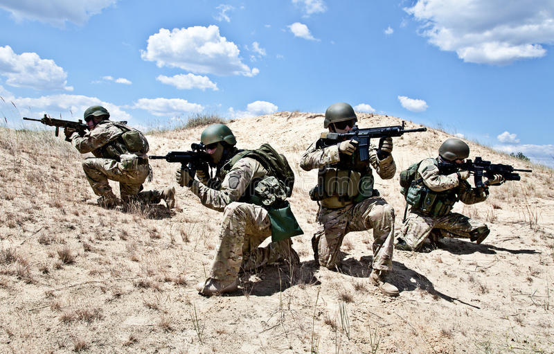 Militär operation arkivfoton